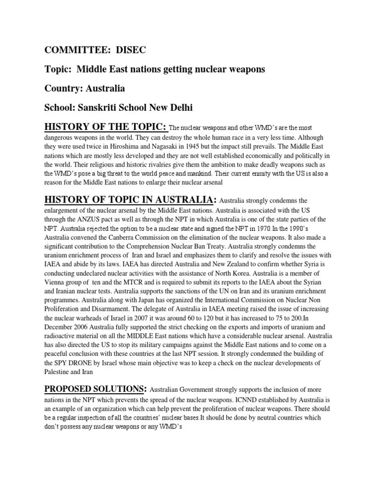 Position Paper Srivats Treaty On The Non Proliferation Of Nuclear