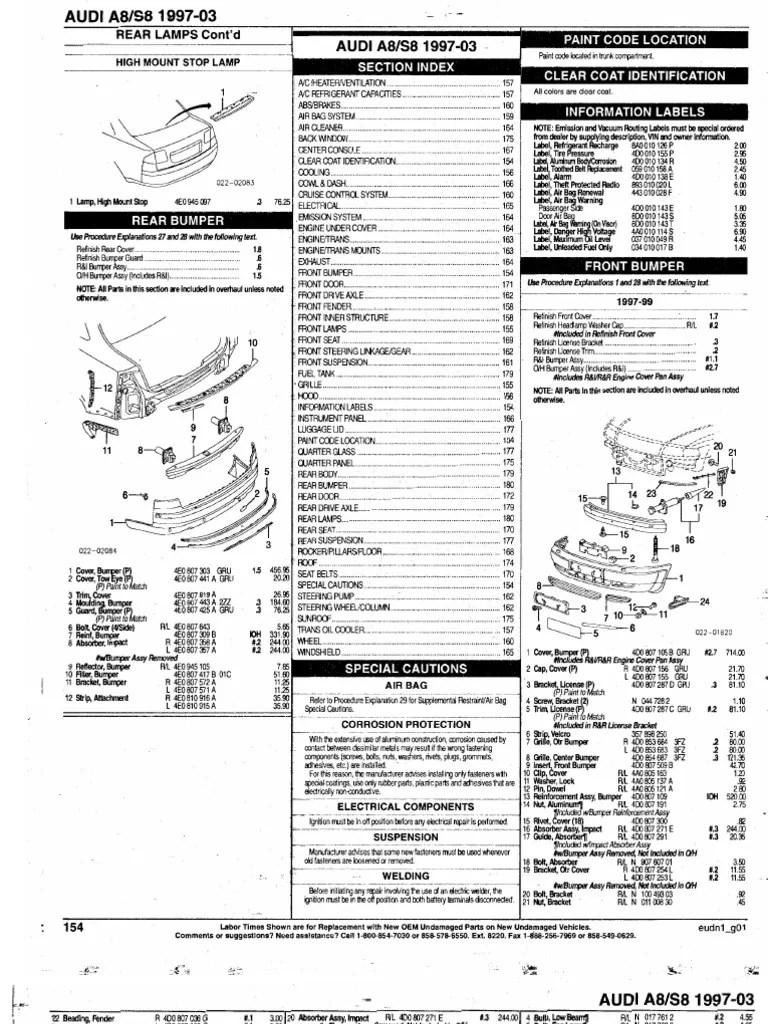 Audi Parts Manual