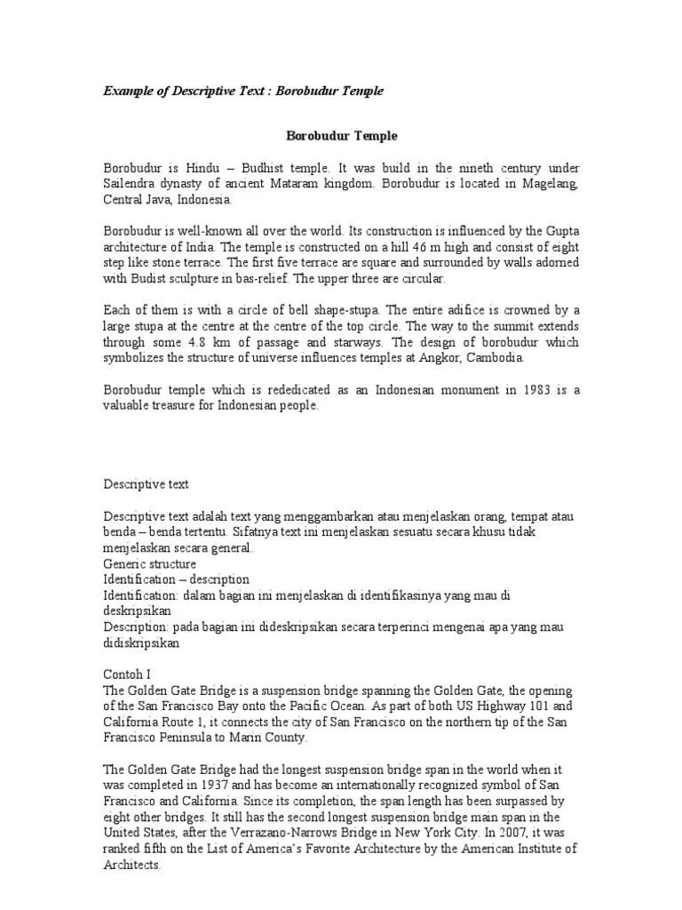 Descriptive Text Tentang Benda : descriptive, tentang, benda, Example, Descriptive