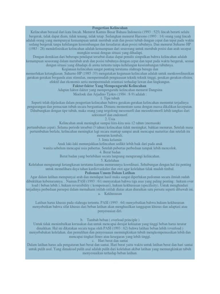 Pengertian Kelincahan Dalam Olahraga : pengertian, kelincahan, dalam, olahraga, Pengertian, Kelincahan