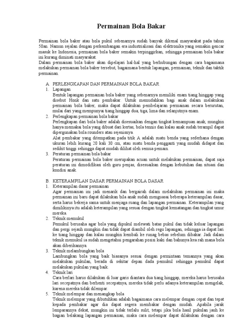 Arti Bola Bakar di Kamus Besar Bahasa Indonesia (KBBI
