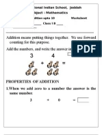 Math worksheet class addition up to also evs  lesson clothes rh scribd