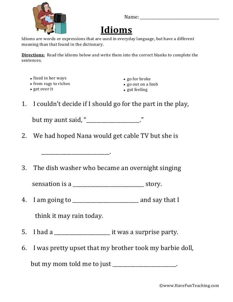 small resolution of https://cute766.info/idioms-worksheets-grade-4-advance-worksheet/