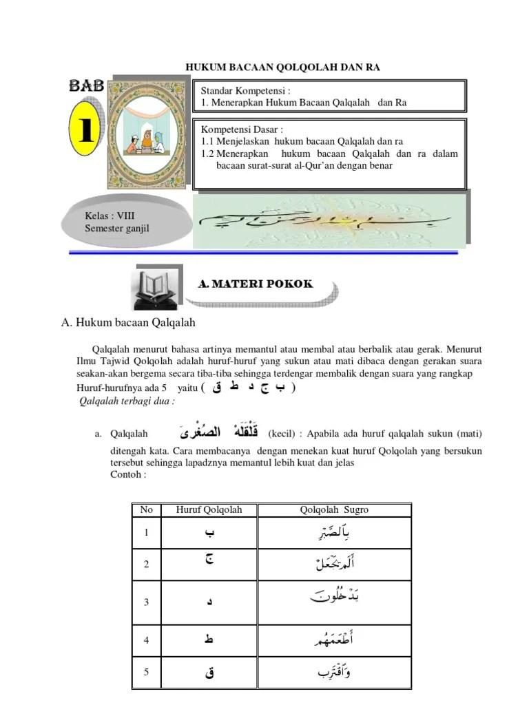 Contoh Qalqalah Sugra Dalam Al Quran : contoh, qalqalah, sugra, dalam, quran, Contoh, Surat, Qalqalah, Sugra