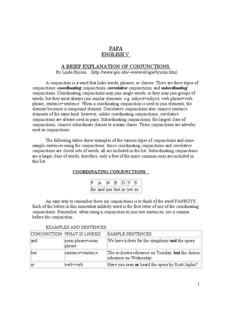 medium resolution of A Brief Explanation of Conjunctions   Sentence (Linguistics)   Semantics