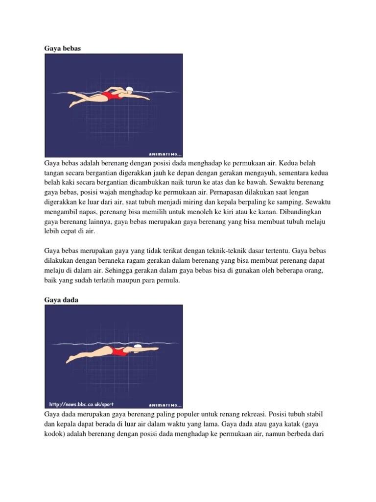Posisi Tubuh Renang Gaya Bebas : posisi, tubuh, renang, bebas, Bebas