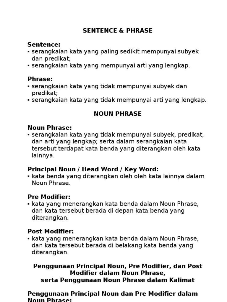 Contoh Noun Phrase : contoh, phrase, Phrase, (Komputasi), Mekanika, Bahasa