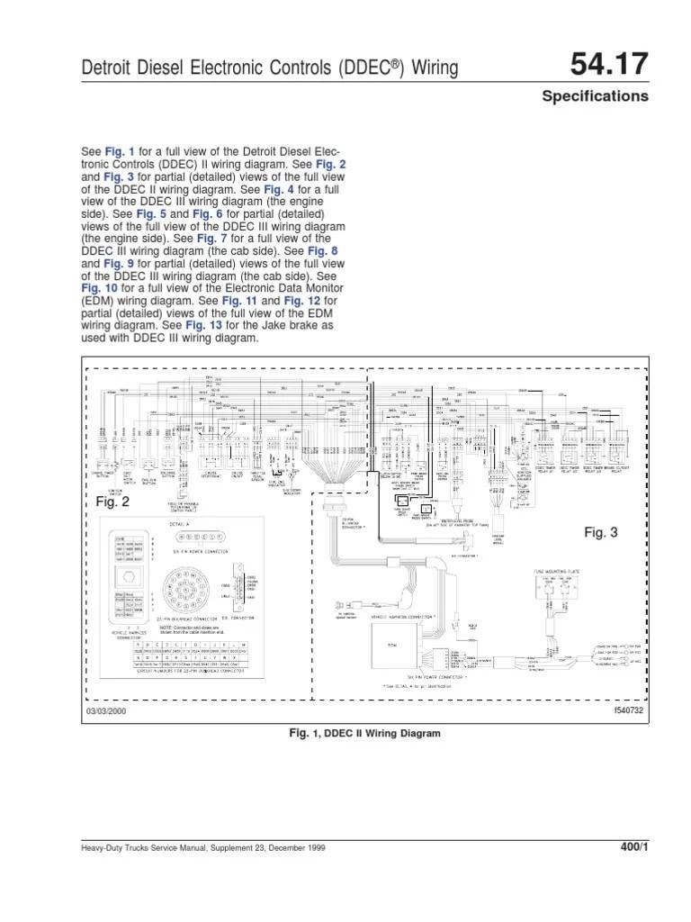 medium resolution of ddec ii and iii wiring diagrams motor di sel cami n detroit ddec 2 ecm wiring diagram in to the cab ddec 2 wiring diagram