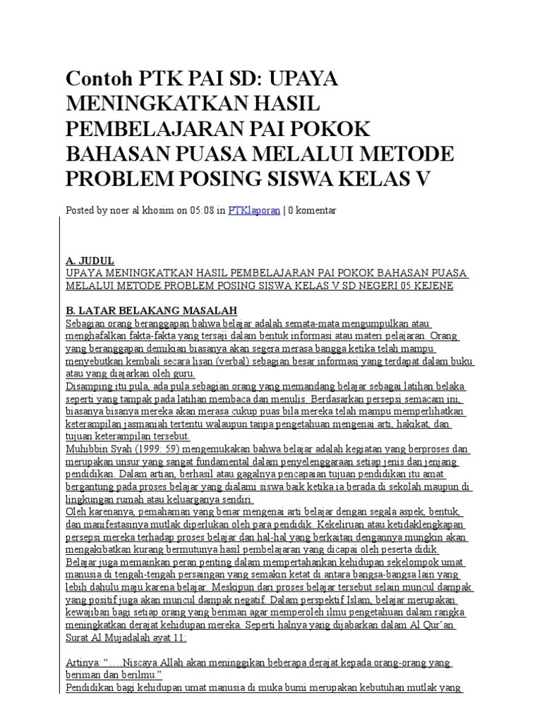Download Ptk Pai Sd Lengkap : download, lengkap, Contoh, Penjas, Lengkap
