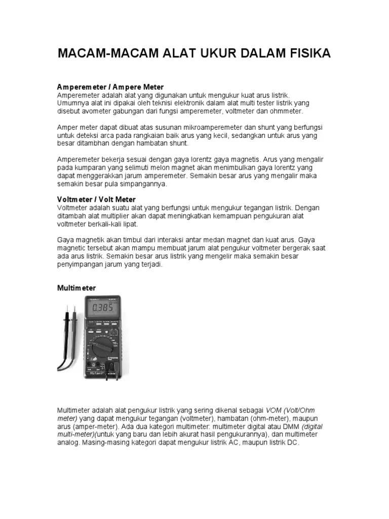 Alat Pengukur Tegangan Listrik Disebut : pengukur, tegangan, listrik, disebut