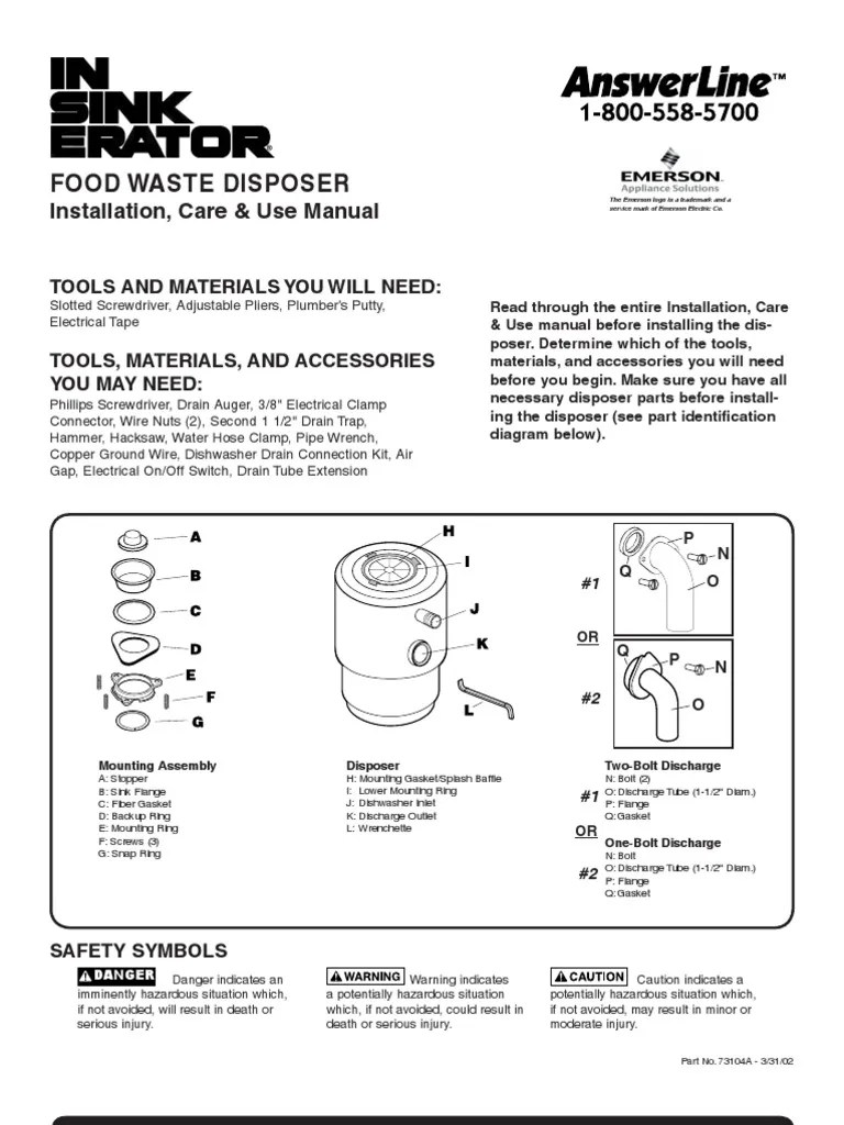 medium resolution of badger 5 garbage disposal user manual electrical connector electrical wiring