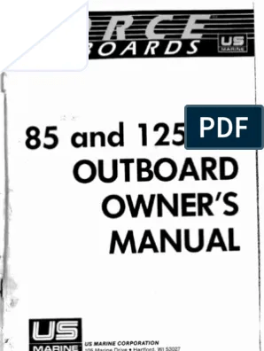 1986 125 Force Outboard Motor Service Manual