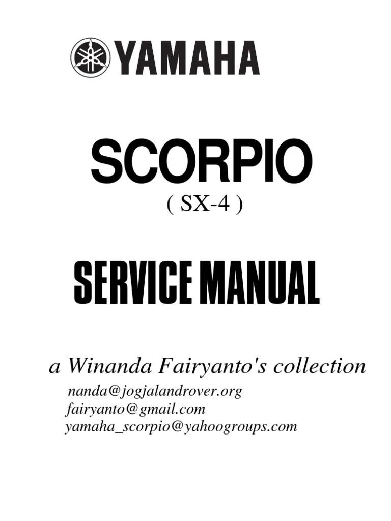 medium resolution of service manual yamaha scorpio 225 sekrup rem wiring diagram yamaha scorpio z