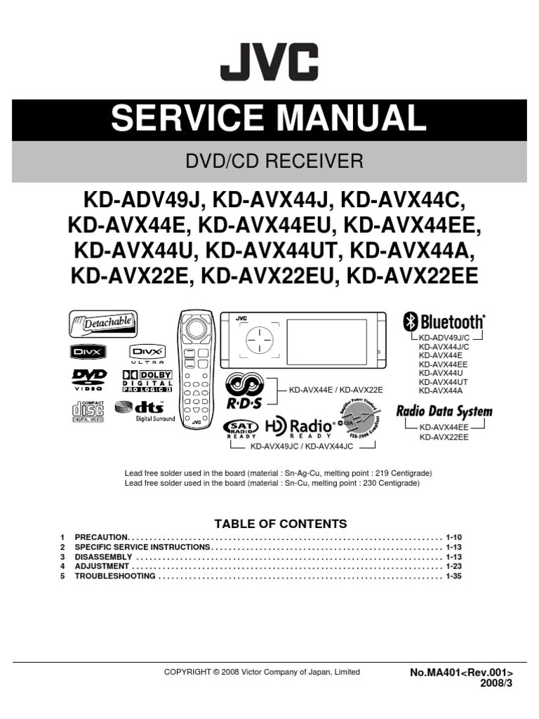 r438 wiring diagram jvc kd wiring diagramr438 wiring diagram jvc kd wiring diagrams onejvc kd adv49 avx22 avx44 ma401 sm  [ 768 x 1024 Pixel ]