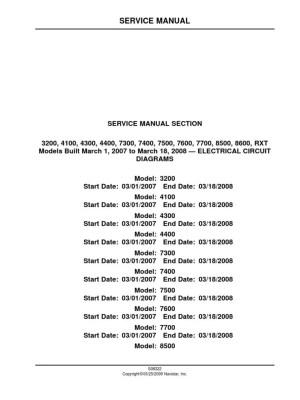 International Service ManualELECTRICAL CIRCUIT DIAGRAMS