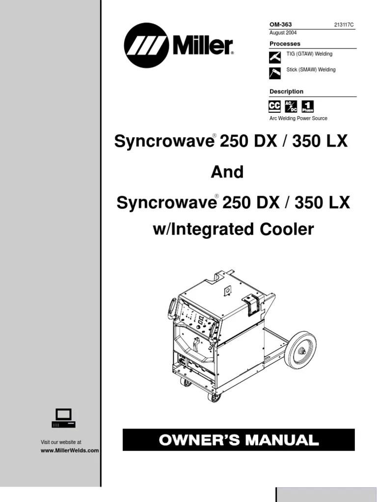 medium resolution of miller 250dx sn le376202 welding electromagnetism miller syncrowave 300 tig welder miller syncrowave 200 wiring diagram