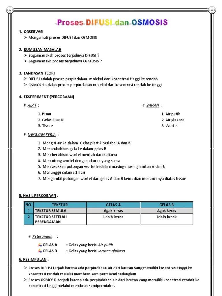Osmosis Dan Difusi : osmosis, difusi, Proses, Difusi, Osmosis