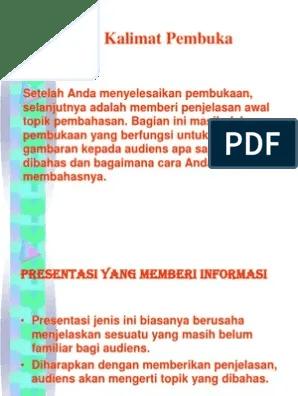 Kalimat Pembuka Presentasi Proposal : kalimat, pembuka, presentasi, proposal, Contoh, Kalimat, Pembuka, Presentasi, Proposal, Gambaran