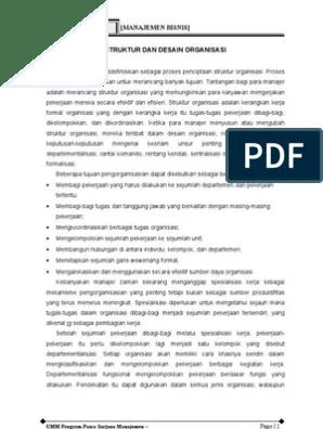 Desain Organisasi Pdf : desain, organisasi, Struktur, Desain, Organisasi