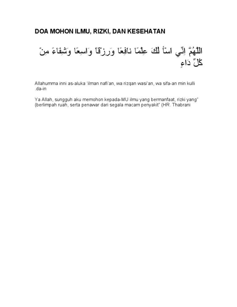 Doa Mohon Kesehatan : mohon, kesehatan, Mohon, Ilmu,, Rizki,, Kesehatan