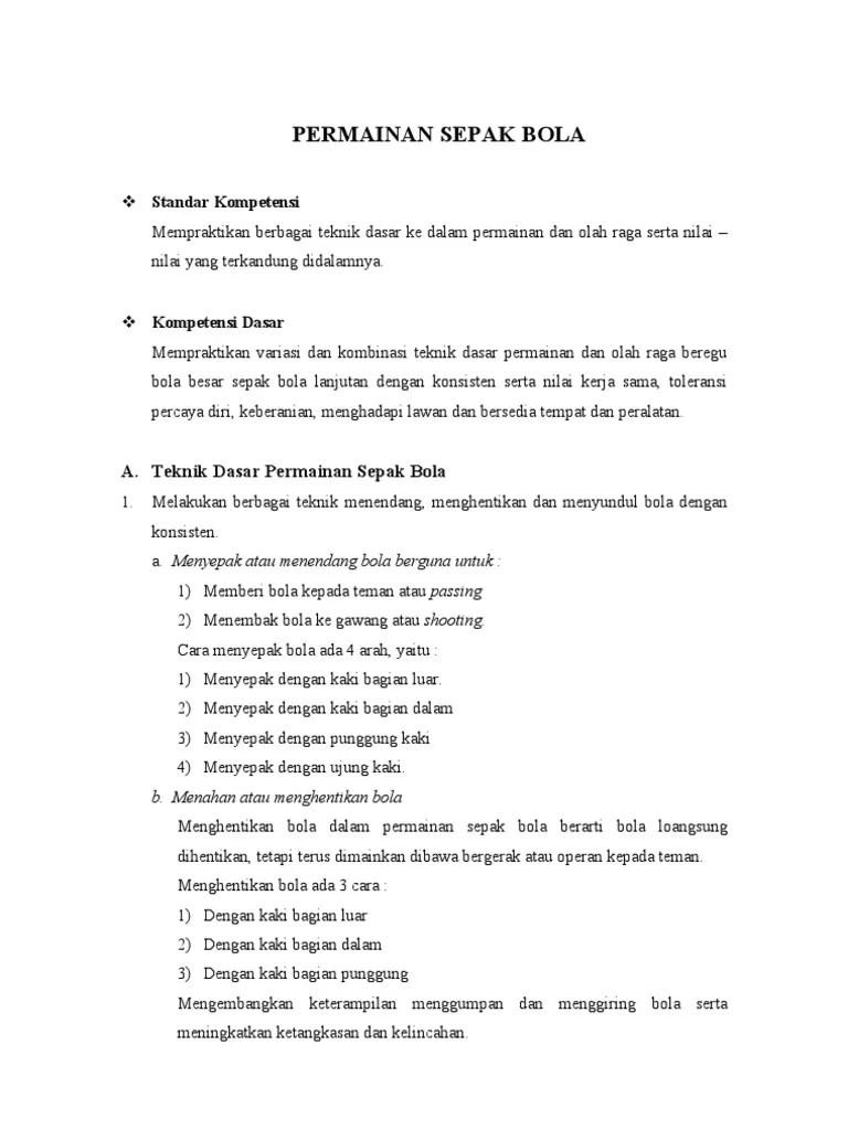 Sebutkan Peraturan Resmi Sepak Bola : sebutkan, peraturan, resmi, sepak, Permainan, Sepak
