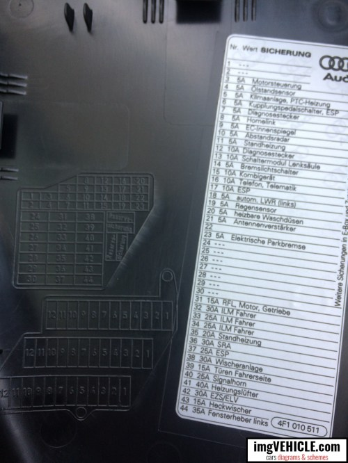small resolution of audi a6 c6 fuse box dash panel diagram