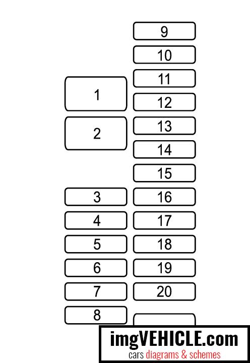 Mazda 6 GJ1 (2012-2016) Fuse box diagrams & schemes