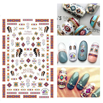 Mix Bohemia Design Nail Art Sticker 3d Simple Beautiful Nails Decals Decorations Tips
