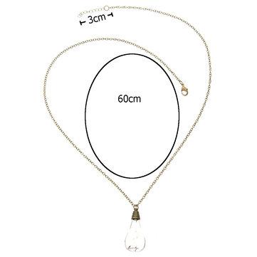 Fashionable Bronze Dandelion Glass Pendant Necklace