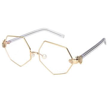 Fashion Vintage Women Palm Frames Polygon Eyeglasses