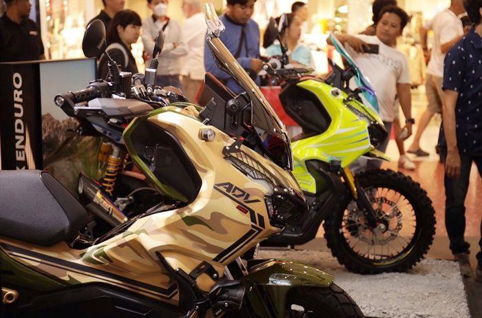 Konsep Honda ADV150 model adventure dengan livery camo