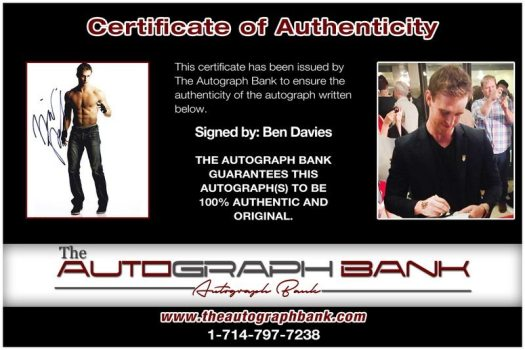 Ben Davies signed AUTHENTIC 8x10 Free Ship The Autograph Bank