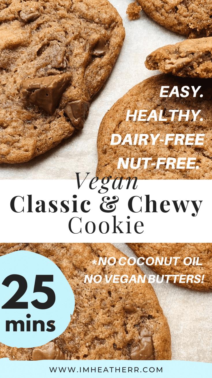 Thin & Chewiest Vegan Choc Chip Olive Oil Cookies