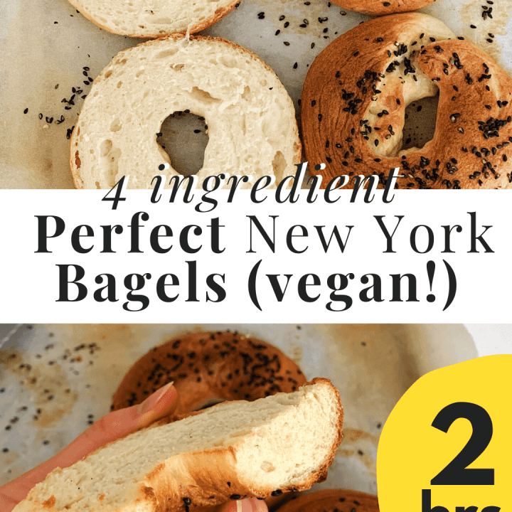 Foolproof Classic New York Bagels for beginners that I made during Self- Quarantine. topped with sesame seeds and only requires 4 ingredients!