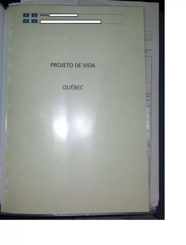 Organizando o dossiê de imigração para o Quebec