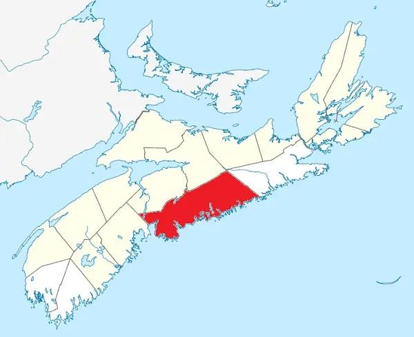 Província de Nova Scotia. Uma província do Canadá no oceano atlântico