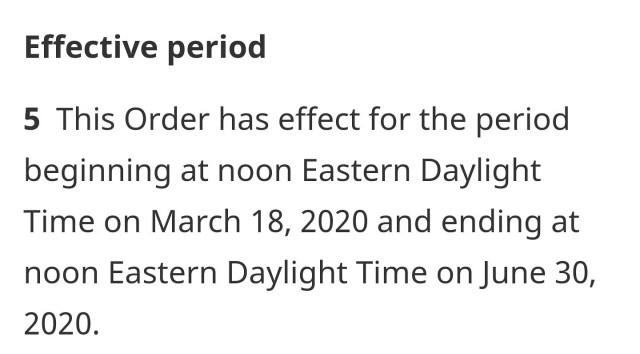 Fronteiras do Canadá ficarão fechadas para estrangeiros até o dia 30 de Junho de 2020