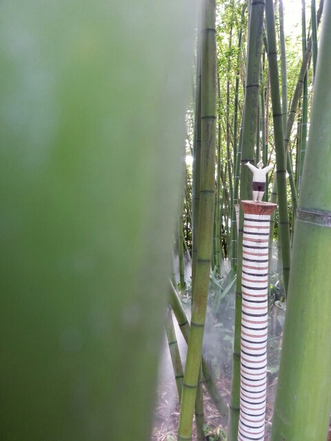 Skulptur i bambusskoven i Heller garden © iminhave.dk