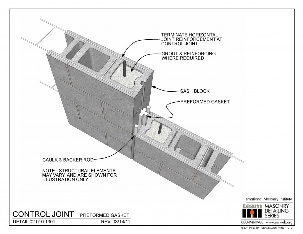 020101301 Control Joint  Preformed Gasket  International Masonry Institute