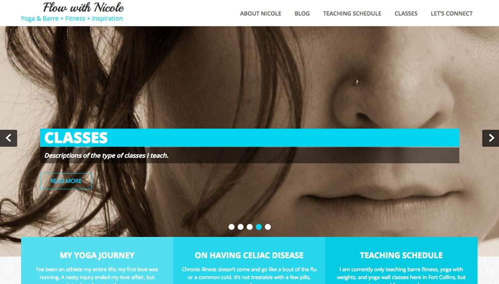 flow with nicole website screenshot