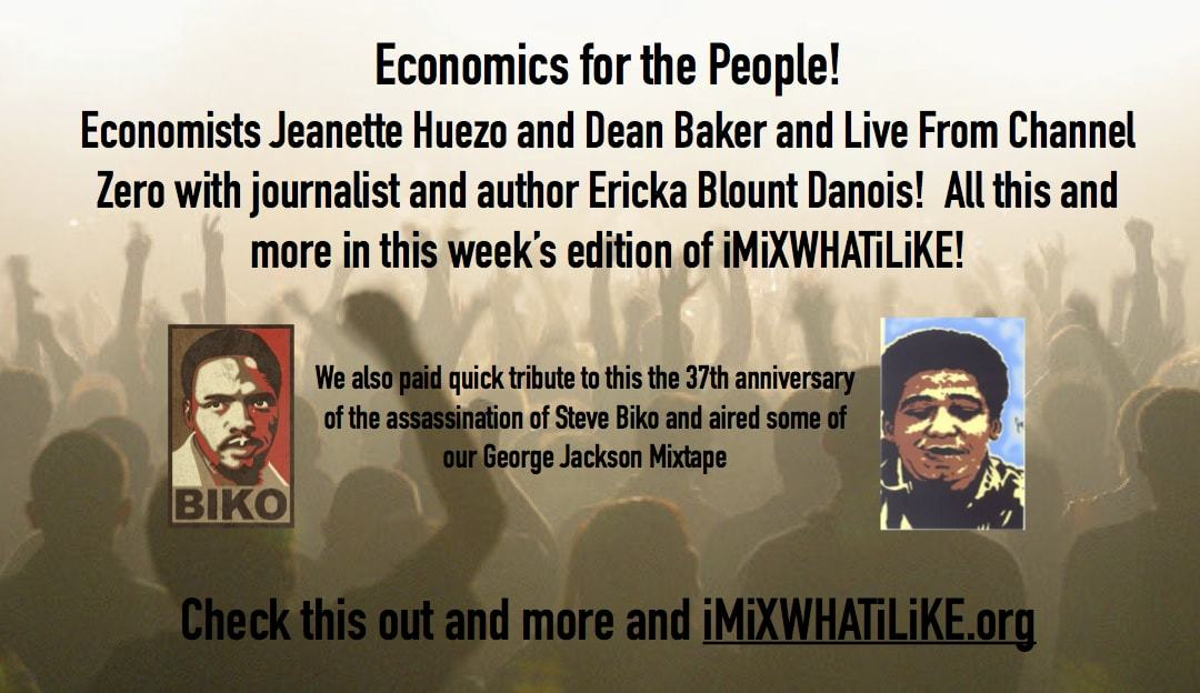 Economics for the People and Live From Channel Zero!
