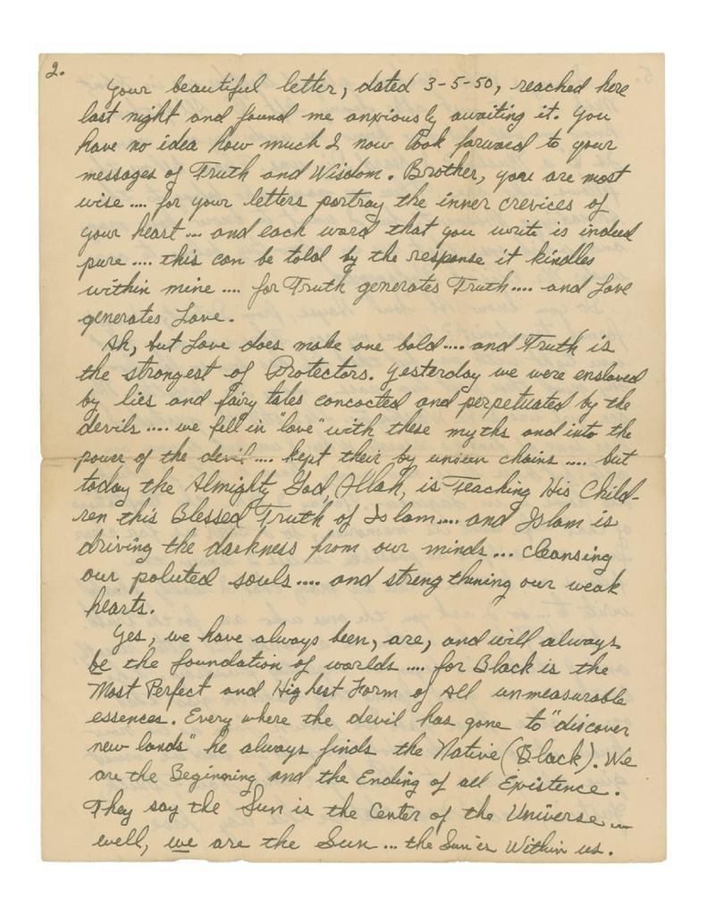 Malcolm X Letter re Jazz and Sonny Stitt 2