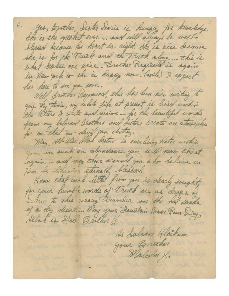Malcolm X Letter re Jazz and Sonny Stitt 6