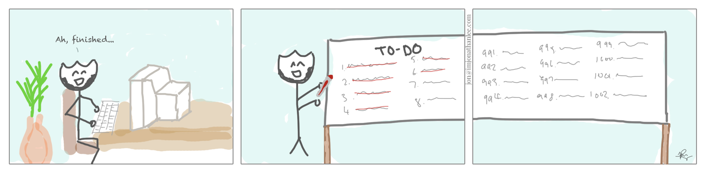 million things on to do list comics