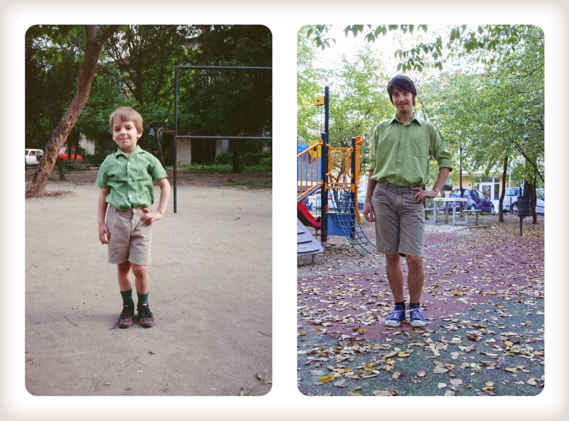 Sons Recreate Childhood Photos For Their Mom S Birthday