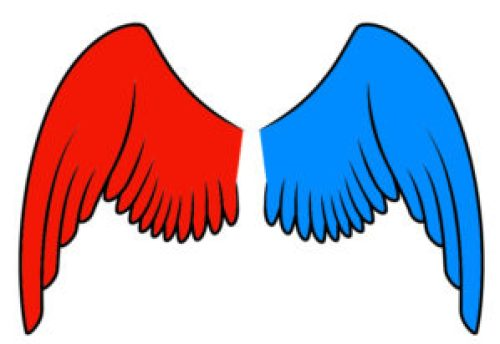left wing a red wing right wing a blue wing | www.imjussayin.com