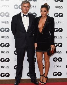 Jose and Mathilde Mourinho (father and daughter)