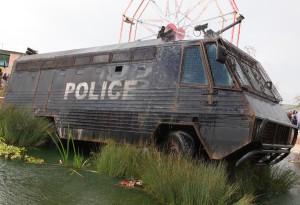 dismaland police van