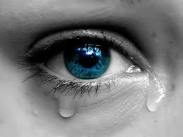 an eye with tears