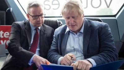 Michael Gove, Boris Johnson in a car | Too Many Big Buts In Politics 5 | www.imjussayin.com